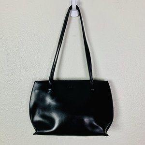 Furla Vintage Small Black Leather Tote